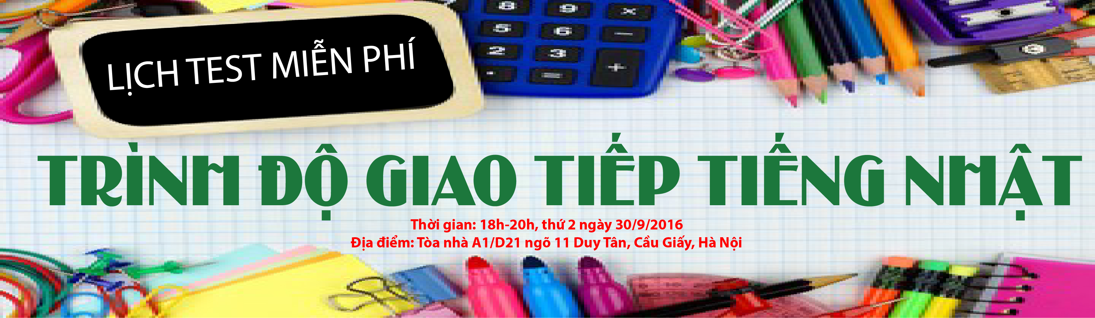 Lịch test giao tiếp Tiếng Nhật