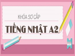 Khóa Học Tiếng Nhật Sơ Cấp A2
