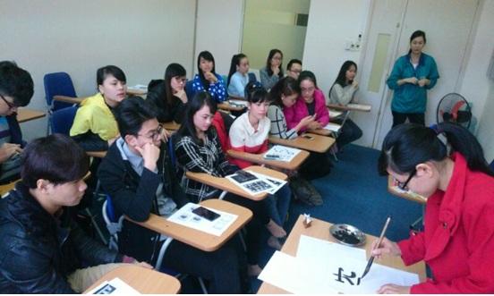 Một buổi học tiếng Nhật tại Trung tâm