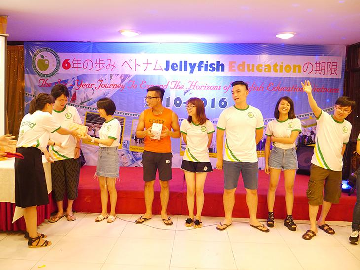 lễ trao giải của trung tâm tiếng nhật jellyfish