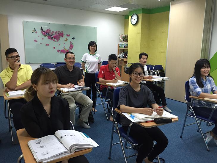 lớp học phụ đạo của trung tâm tiếng nhật jellyfish education