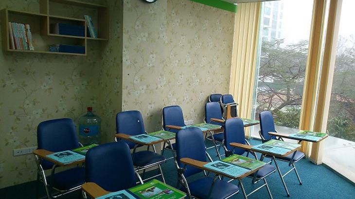 Trang thiết bị phòng học hiện tại với số lượng học viên từ 10-15 học viên trong một lớp