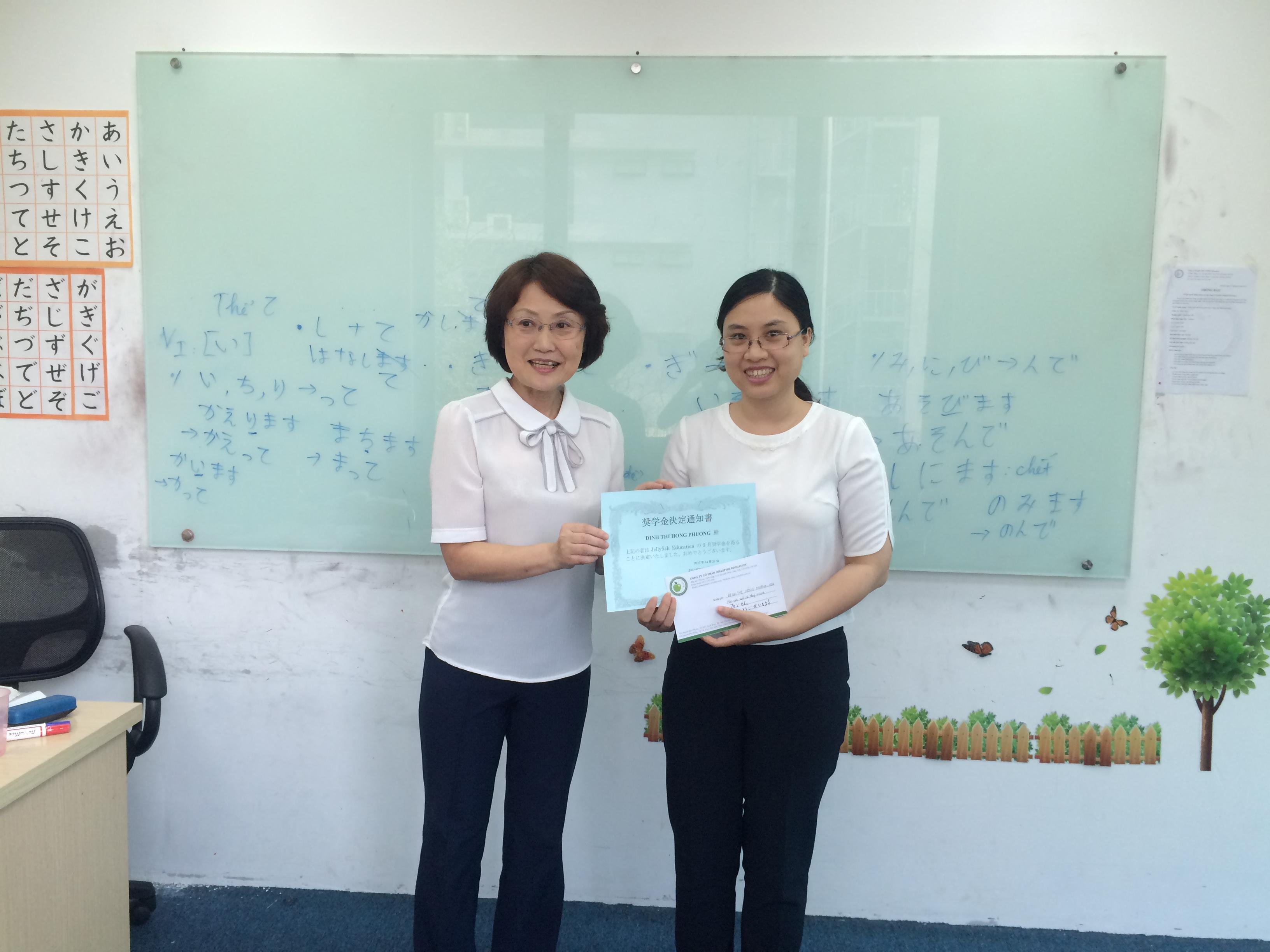 Học viên xuất sắc tháng 3 tại Jellyfish chi nhánh Hà Nội