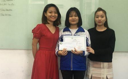 Bạn Nguyễn Thị Diễm Quỳnh – Lớp N4 1P – CN Hà Nội