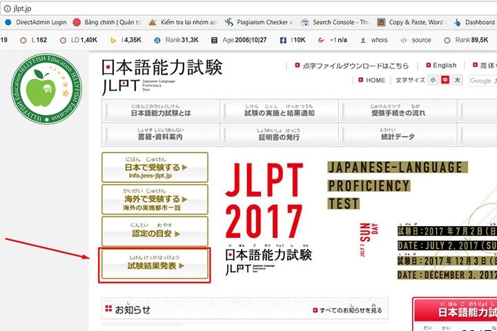 Hướng dẫn tra cứu điểm thi JLPT 12/2018 - Ảnh 1