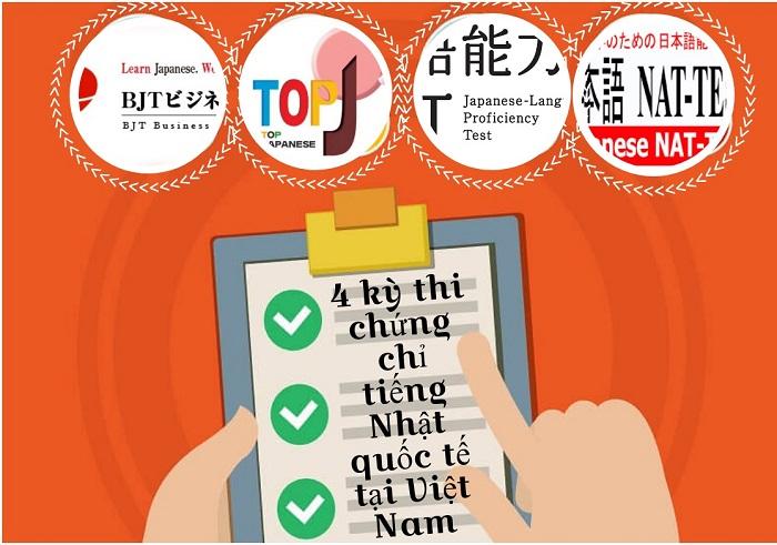 4 kỳ thi chứng chỉ tiếng Nhật quốc tế tại Việt Nam
