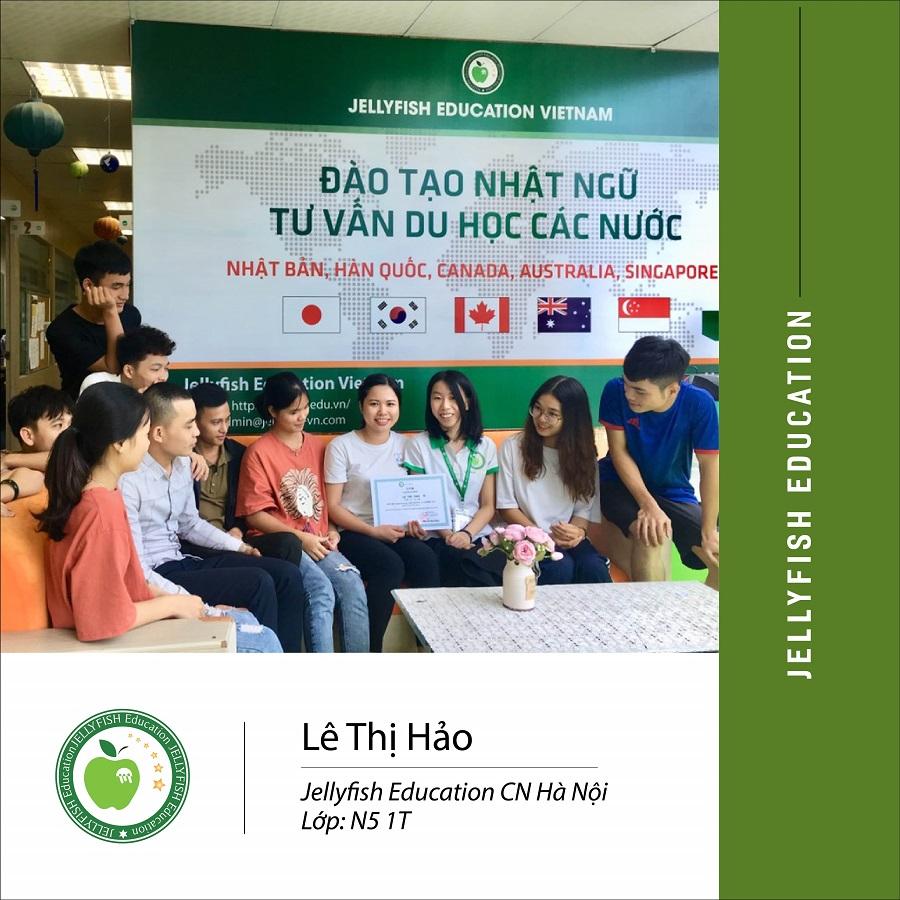 Bạn: Lê Thị Hảo – CN Hà Nội Lớp: N5 1T