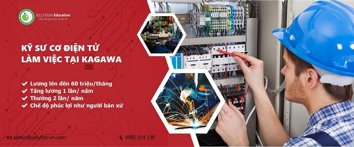 Tuyển dụng kỹ sư cơ điện tử làm việc tại Kagawa