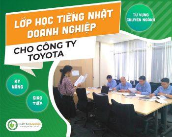 Lớp tiếng Nhật doanh nghiệp - Toyota Việt Nam