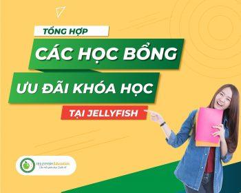 Tổng hợp các học bổng, ưu đãi khóa học hiện có tại Jellyfish Education