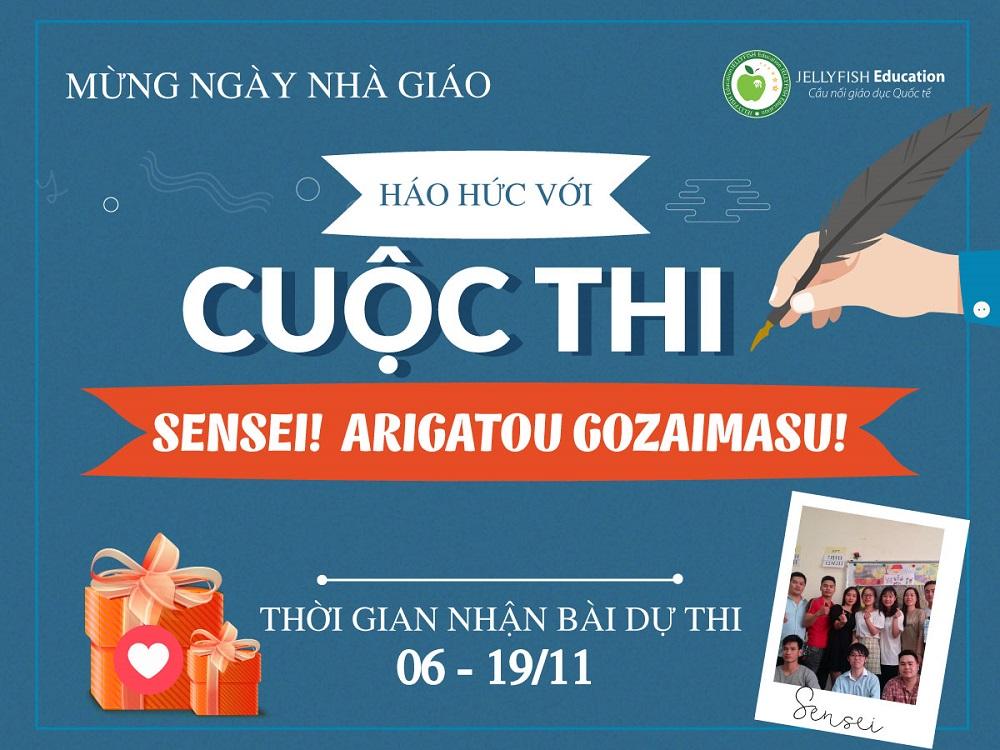 """Tháng của nhà giáo - Háo hức với cuộc thi """"Sense! Arigatou gozaimasu!"""""""