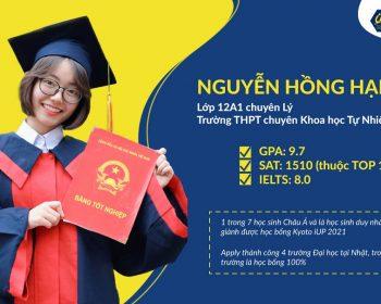 Nguyễn Hồng Hạnh - học bổng trị giá 2 tỷ đồng tại trường Đại học Kyoto